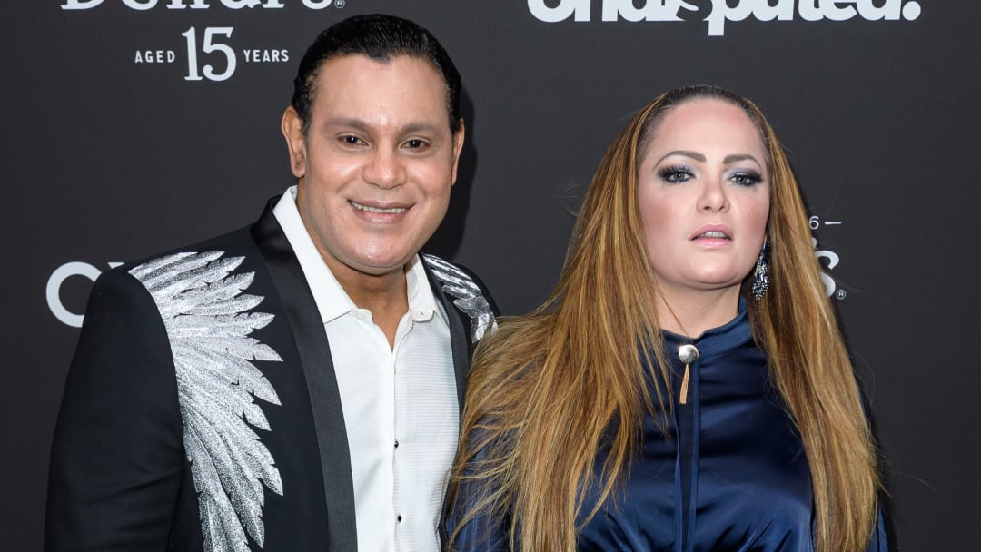 Sammy Sosa looks far different than when he was blasting homers for the Chicago Cubs in the 1990s.