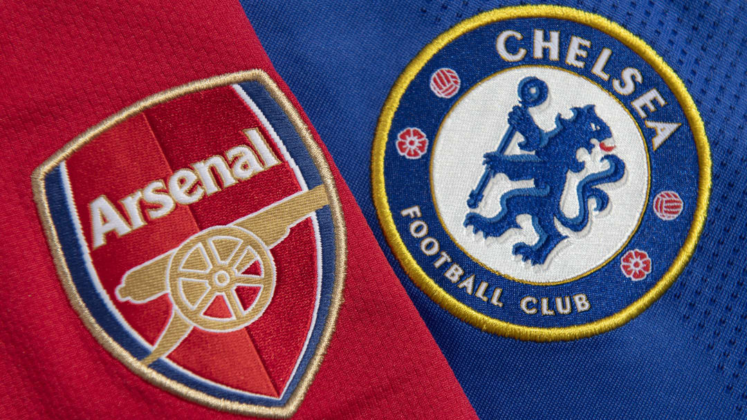 The Arsenal and Chelsea Club Badges