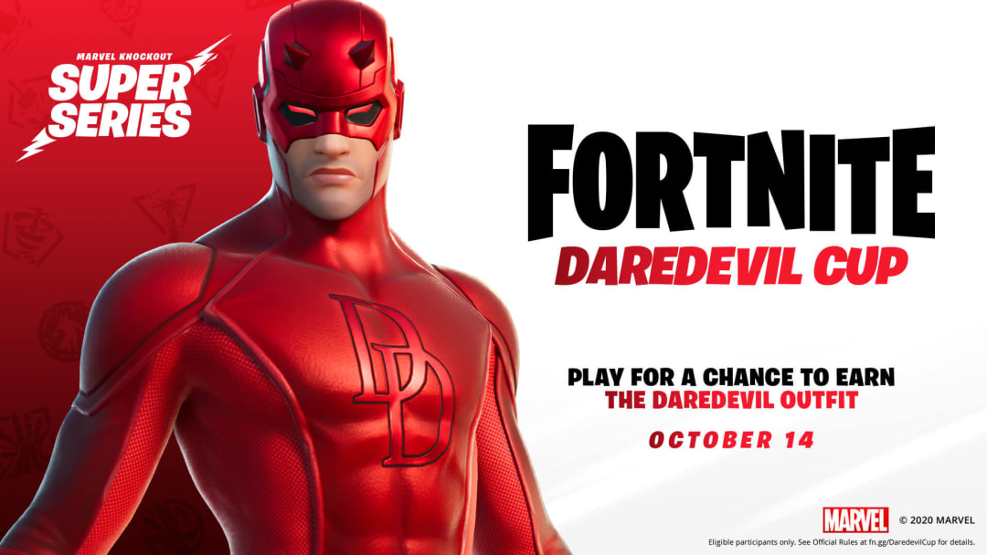 Epic Games hasn't announced when the Daredevil skin will hit the Item Shop, but players will have a chance to acquire it early on Oct. 14.
