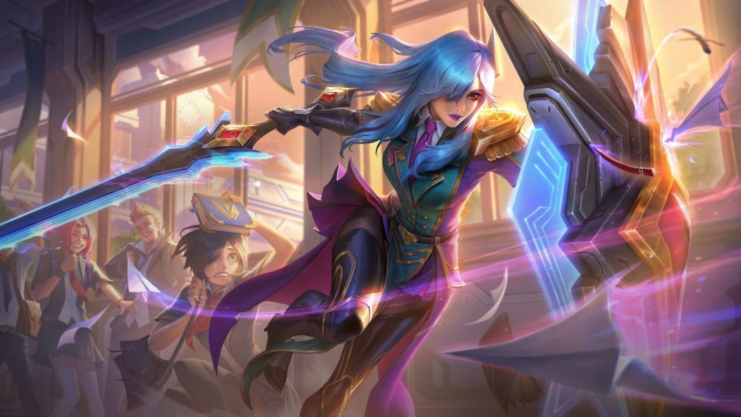 Battle Academia Leona Prestige Edition is one of two Battle Academia Leona skins being released with the set.