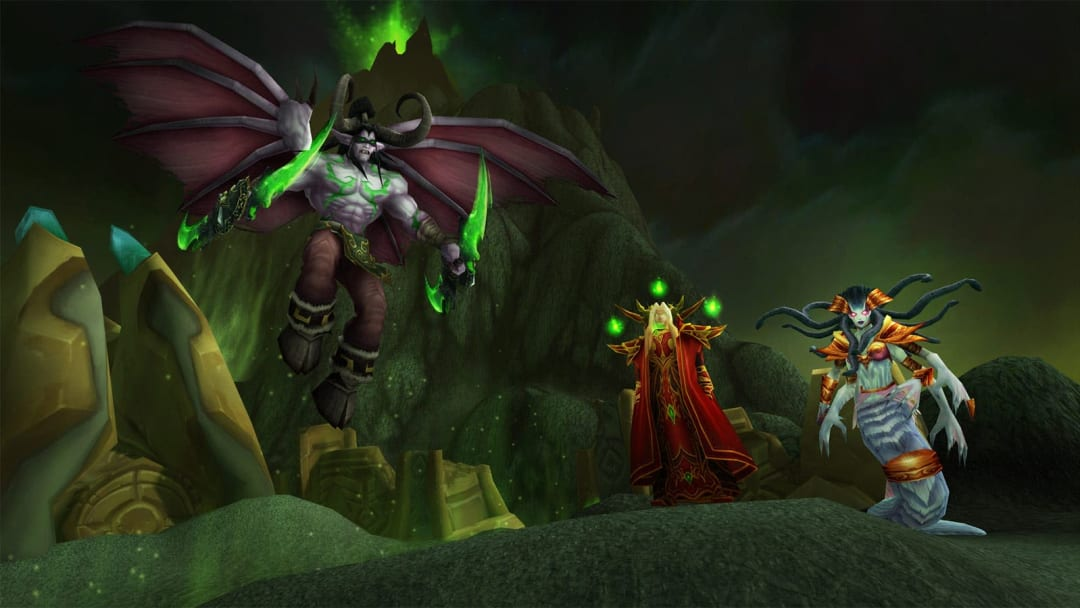 Illidan, Kael'Thas and Lady Vashj are the three main foes players will face in the Outland
