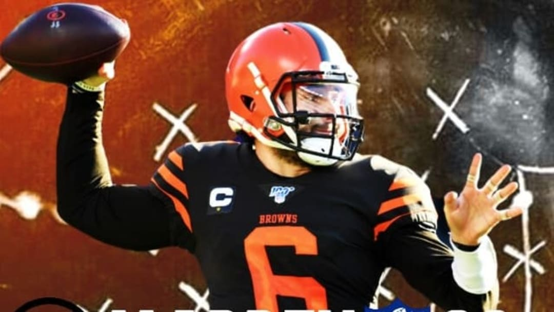 Baker Mayfield's Madden 22 cover mock design has an awesome look.