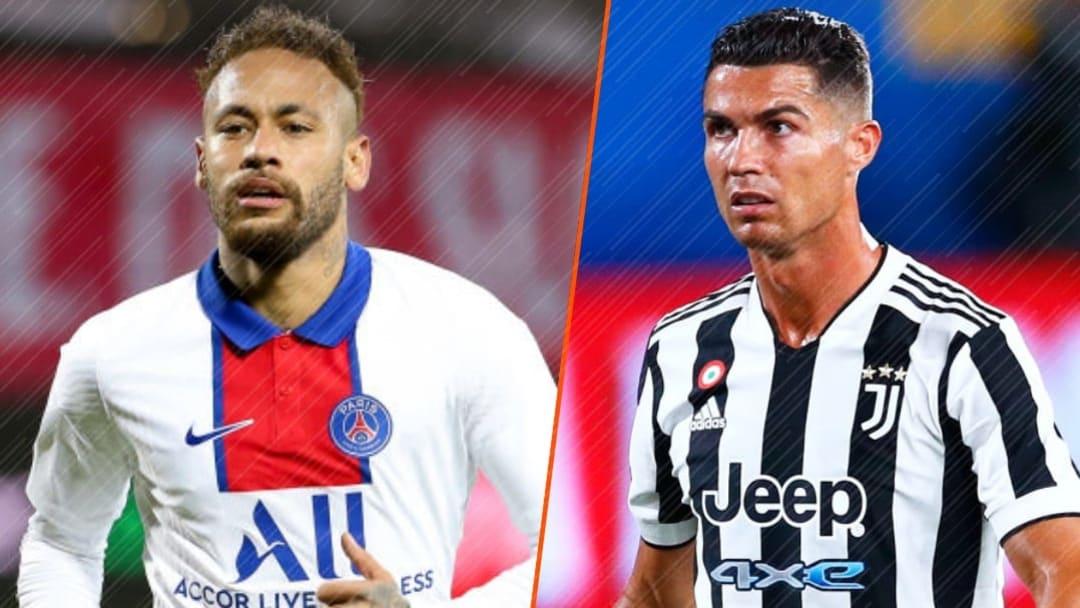 Neymar Jr et Cristiano Ronaldo.