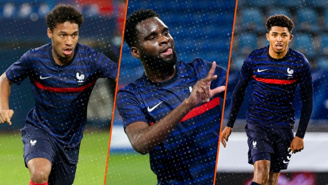 Boubacar Kamara, Odsonne Édouard et Wesley Fofana.
