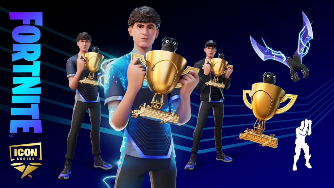 """Kyle """"Bugha"""" Giersdorf has received his very own skin and bundle in the Fortnite cosmetic Icon Series."""