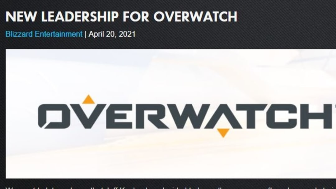 In the announcement of Jeff Kaplan's successor, it was teased that more updates regarding Overwatch 2 will be announced.