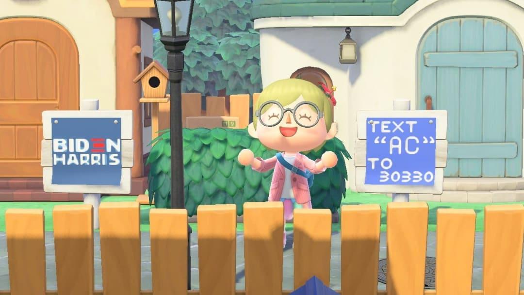 Visit the Joe Biden Animal Crossing Island and grab some campaign merch.
