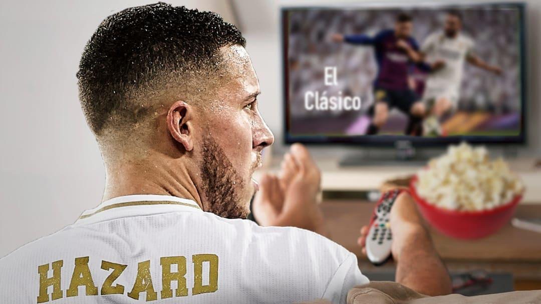 Encore une fois, Eden Hazard va contempler le Clasico depuis les tribunes.