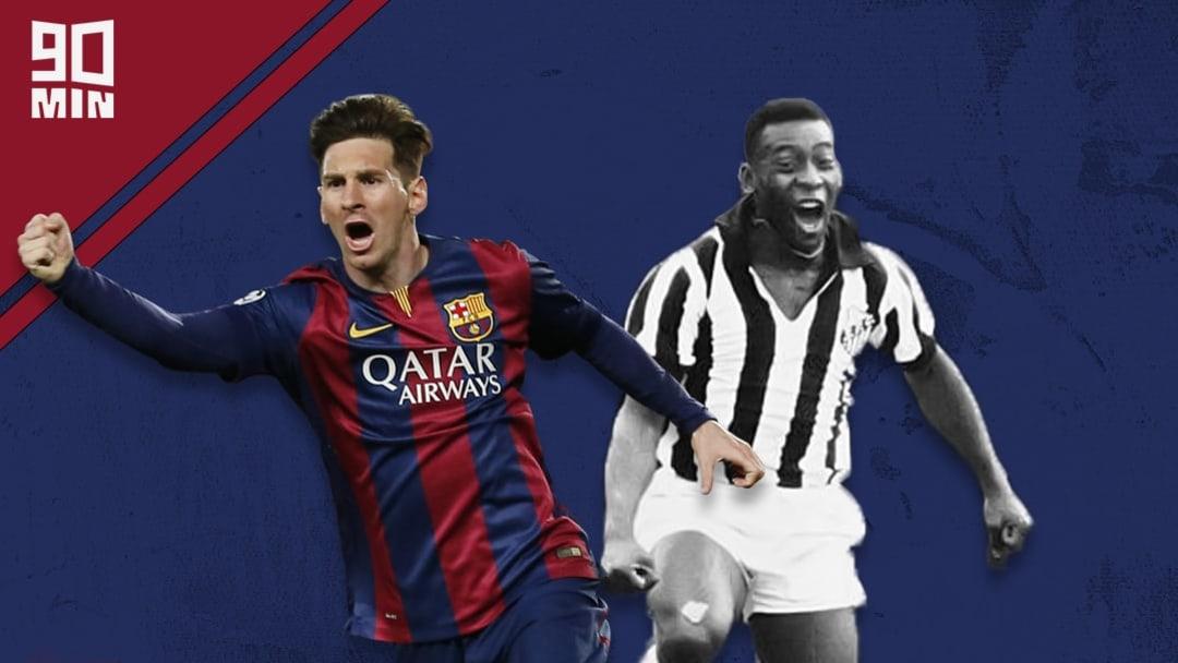 Lionel Messi et Pelé sont les seuls joueurs à avoir marqué 643 buts avec le même club.