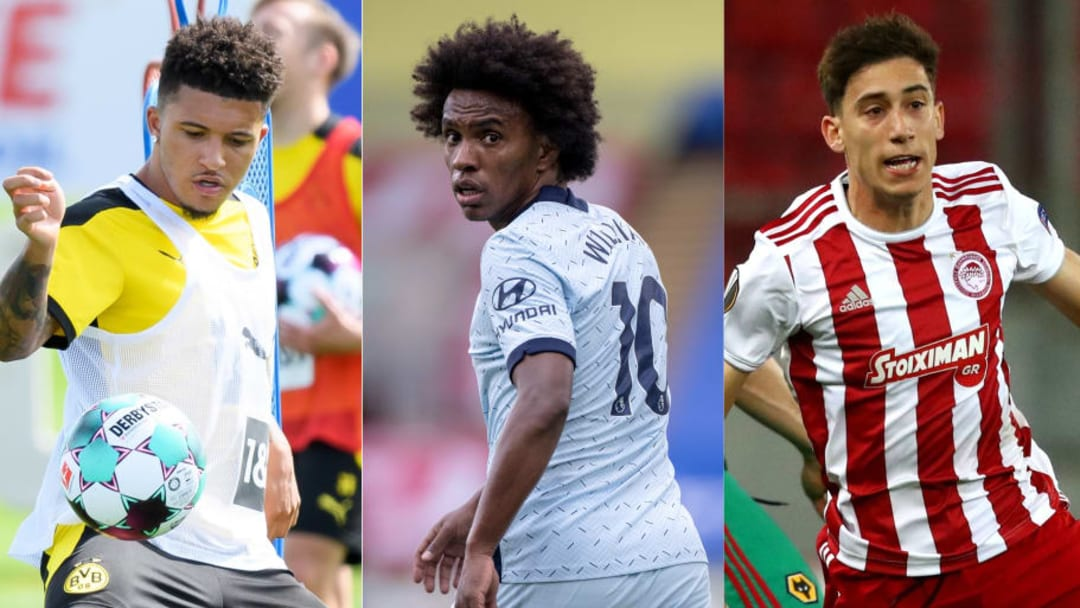 Jadon Sancho, Willain, Kostas Tsimikas