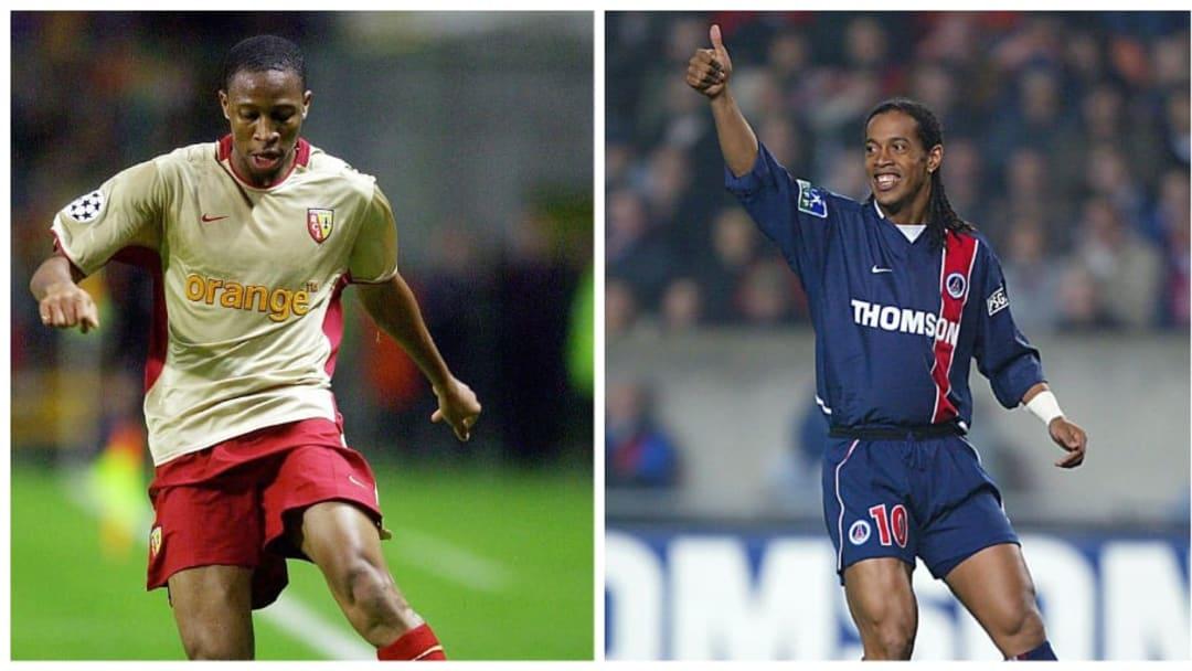 Seydou Keita et Ronaldinho, deux grands joueurs qui ont marqué le RC Lens et le PSG.