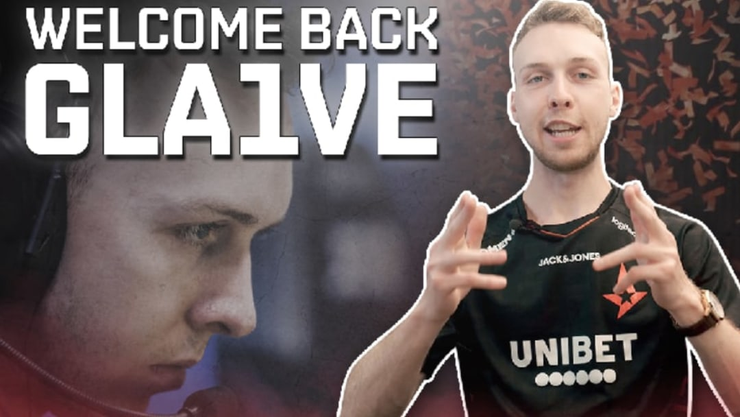 "Lukas ""gla1ve"" Rossander has returned to the action after taking a ""sick leave"" earlier this year."