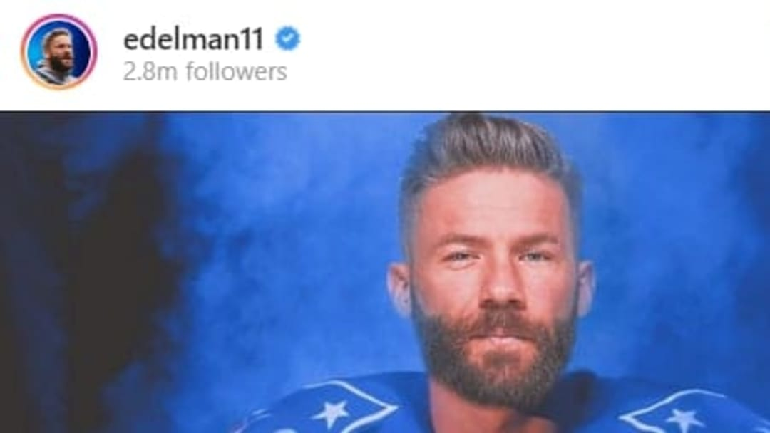 Julian Edelman gave fans a glimpse of a potential new jersey.