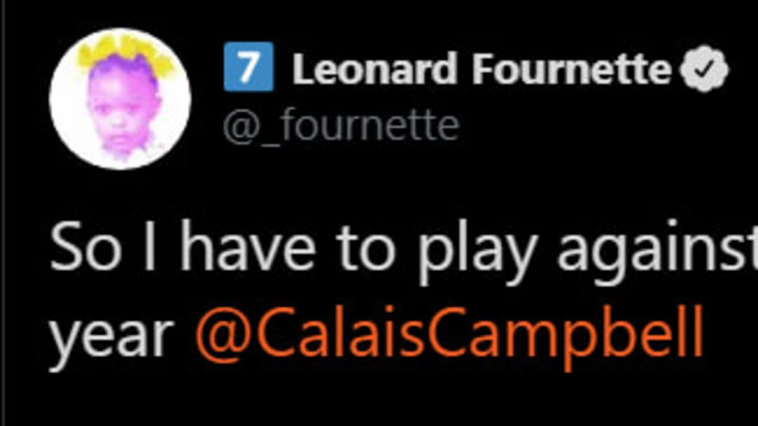 Jacksonville Jaguars star Leonard Fournette isn't looking forward to playing against Calais Campbell.