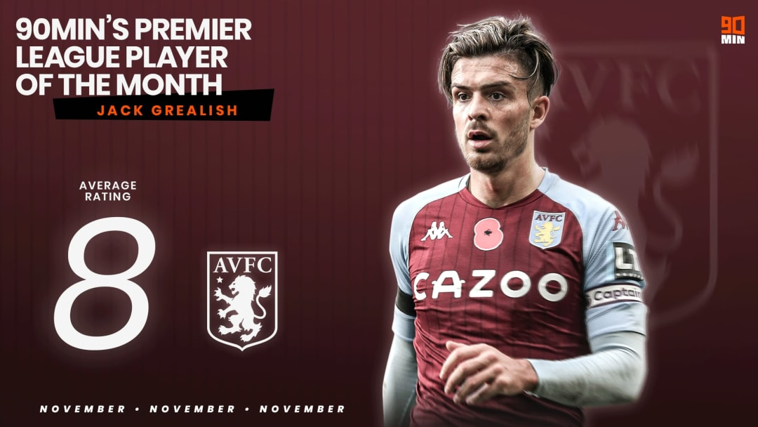 Grealish is 90min's Player of the Month