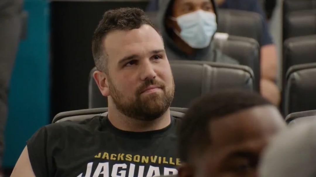 Steve Tellefsen of the Jacksonville Jaguars is named a captain of the team.
