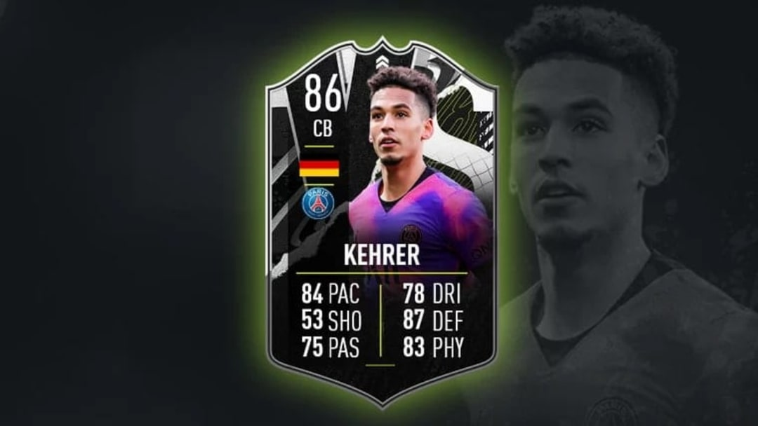 FIFA 21's Thilo Kehrer Showdown card.