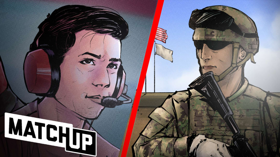 """In this episode of Matchup, Dillon """"Attach"""" Price compares and contrasts his role in Call of Duty to that of a Special Warfare Combatant-Craft Crewman. Hear how the two both prepare and execute their roles when it's game time."""