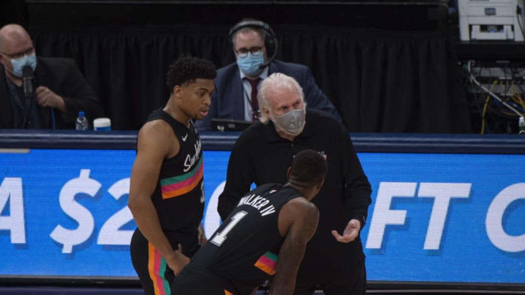 San Antonio Spurs Keldon Johnson Lonnie Walker Mandatory Credit: Justin Ford-USA TODAY Sports