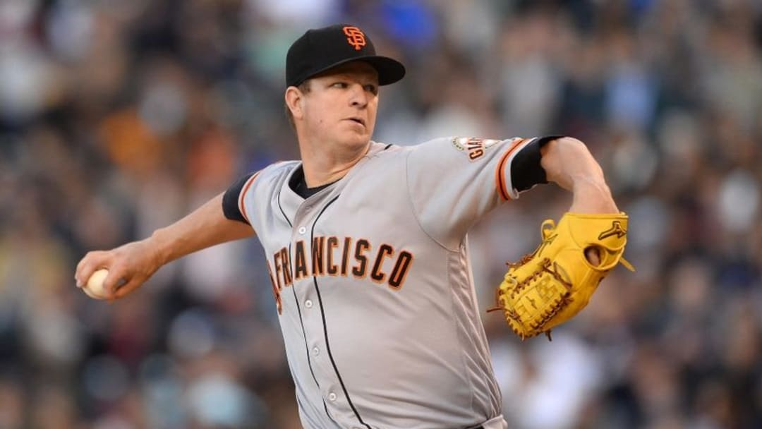 If Matt Cain is completely healed, the Giants rotation should be solid heading into the second half. (Ron Chenoy-USA TODAY Sports)