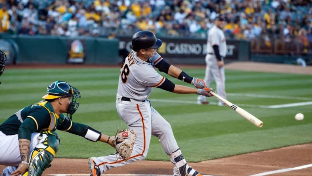 OAKLAND, CA - JULY 31: Buster Posey