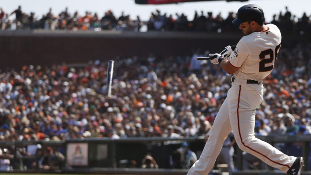 SF Giants slugger Chris Shaw. (Photo by Stephen Lam/Getty Images)