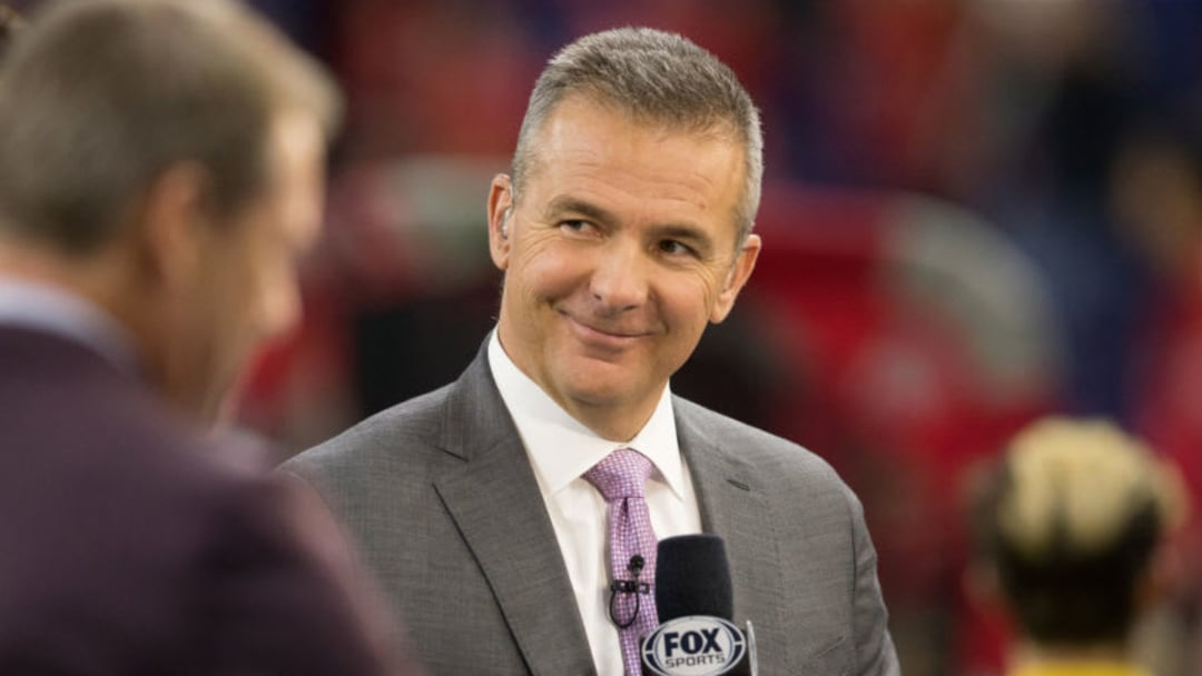 INDIANAPOLIS, INDIANA - DECEMBER 07: Fox Sports analyst Urban Meyer at the Big Ten Championship game between the Ohio State Buckeyes and Wisconsin Badgers at Lucas Oil Stadium on December 07, 2019 in Indianapolis, Indiana. (Photo by Justin Casterline/Getty Images)