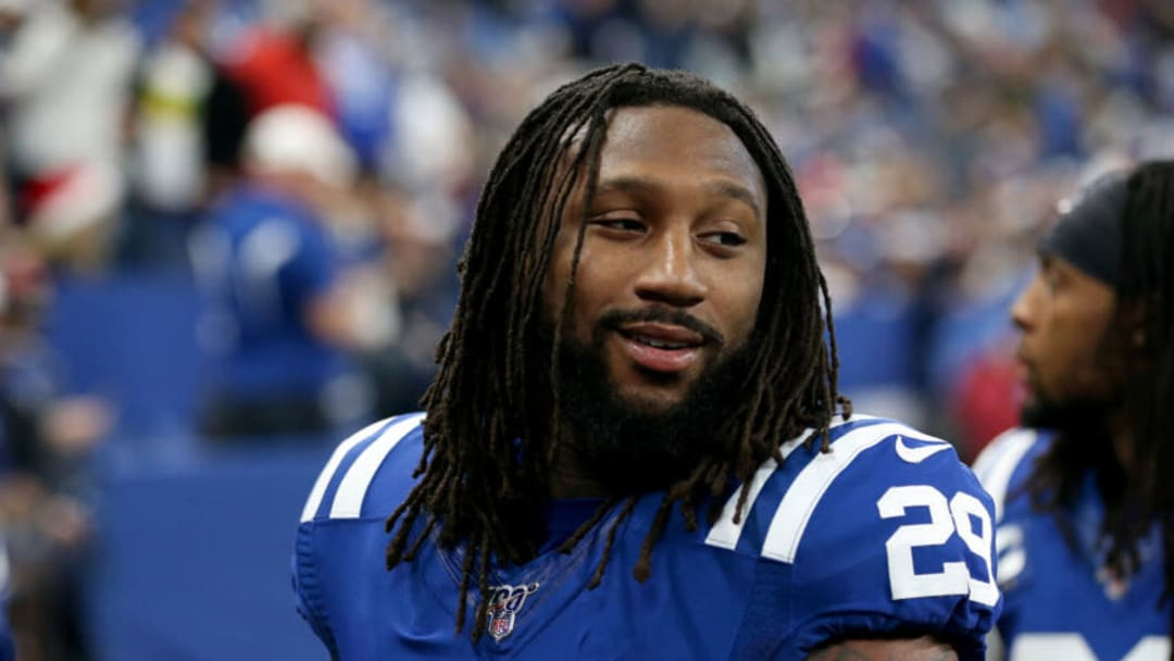 INDIANAPOLIS, INDIANA - DECEMBER 22: Malik Hooker #29 of the Indianapolis Colts walks off the field at halftime in the game against the Carolina Panthers at Lucas Oil Stadium on December 22, 2019 in Indianapolis, Indiana. (Photo by Justin Casterline/Getty Images)