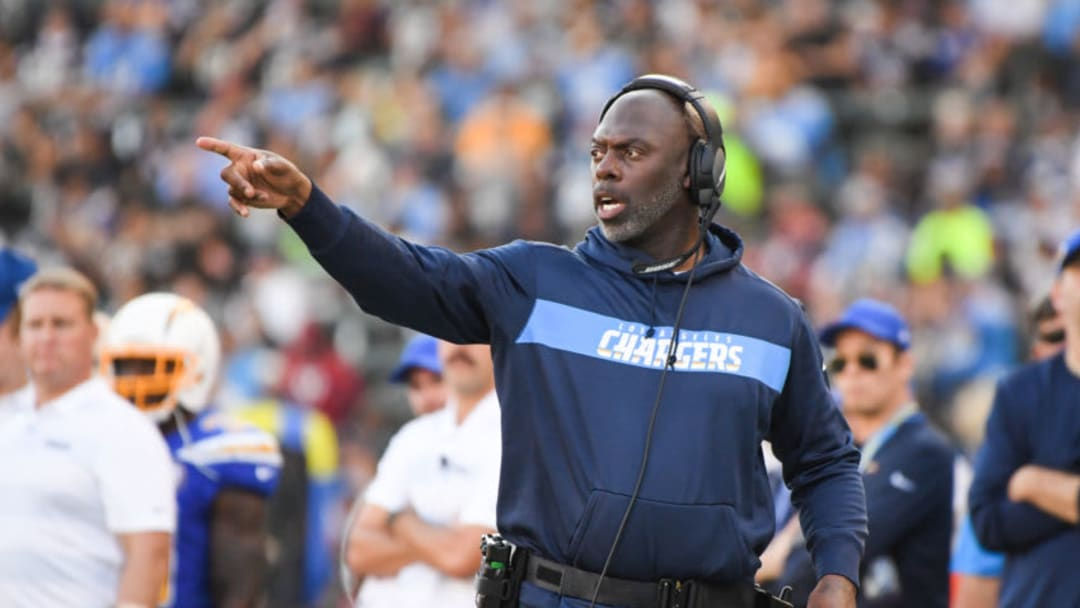 CARSON, CA - NOVEMBER 25: Head coach Anthony Lynn of the Los Angeles Chargers reacts during the third quarter against the Arizona Cardinals at StubHub Center on November 25, 2018 in Carson, California. (Photo by Harry How/Getty Images)