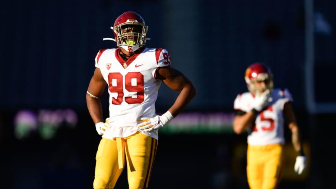 USC football outside linebacker Drake Jackson. (John McGillen via USC Athletics)