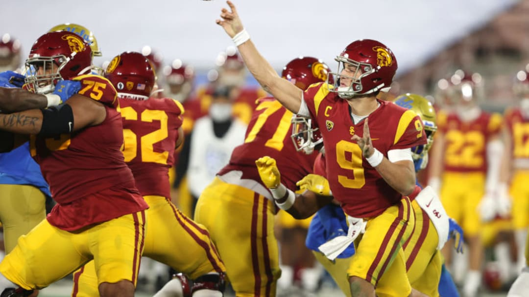 USC football quarterback Kedon Slovis. (Sean M. Haffey/Getty Images)