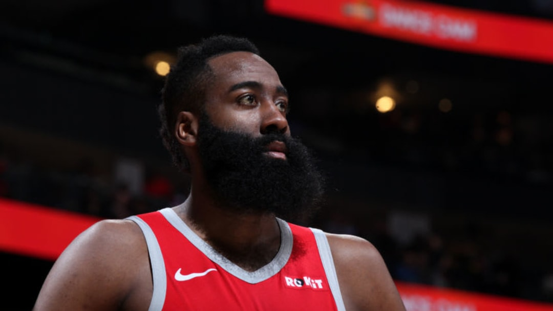James Harden #13 of the Houston Rockets (Photo by Jasear Thompson/NBAE via Getty Images)