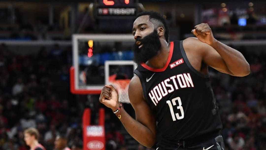 James Harden #13 of the Houston Rockets (Photo by Stacy Revere/Getty Images)