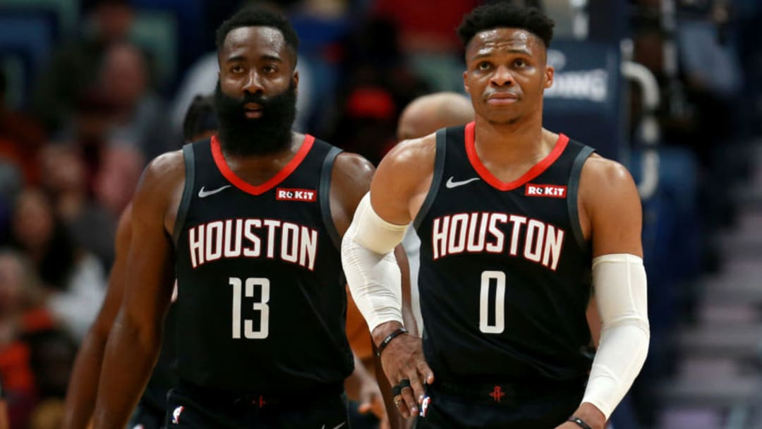 Houston Rockets James Harden Russell Westbrook (Photo by Sean Gardner/Getty Images)