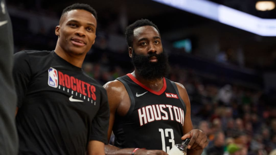 Houston Rockets James Harden Russell Westbrook (Photo by Hannah Foslien/Getty Images)