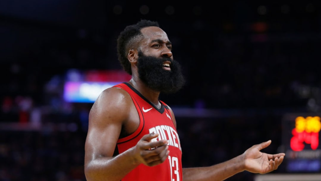 James Harden #13 of the Houston Rockets (Photo by Lachlan Cunningham/Getty Images)