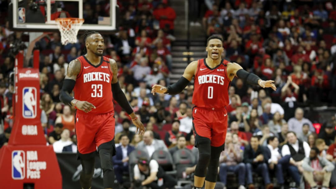 Houston Rockets Robert Covington Russell Westbrook (Photo by Tim Warner/Getty Images)