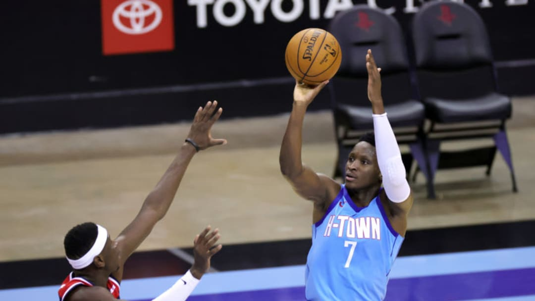 Victor Oladipo #7 of the Houston Rockets Getty Images License Agreement. (Photo by Carmen Mandato/Getty Images)