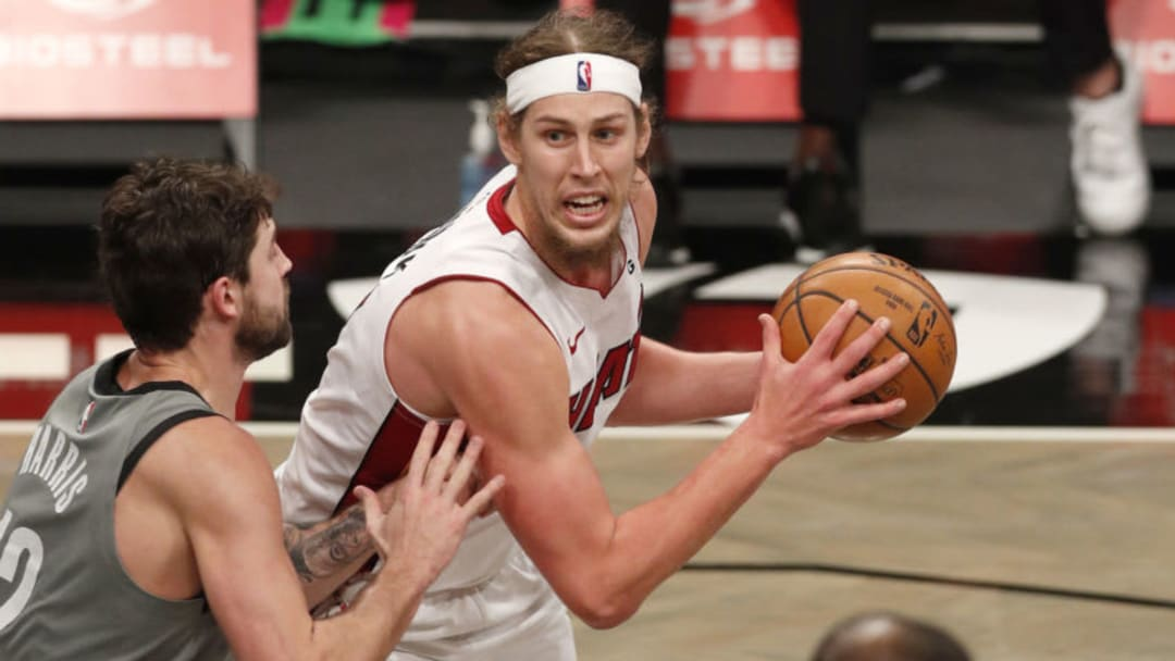Kelly Olynyk #9 of the Miami Heat (Photo by Jim McIsaac/Getty Images)