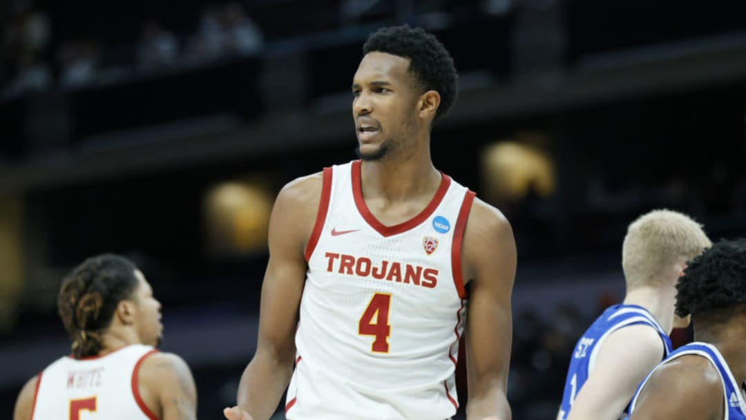 Evan Mobley #4 of the USC Trojans (Photo by Sarah Stier/Getty Images)