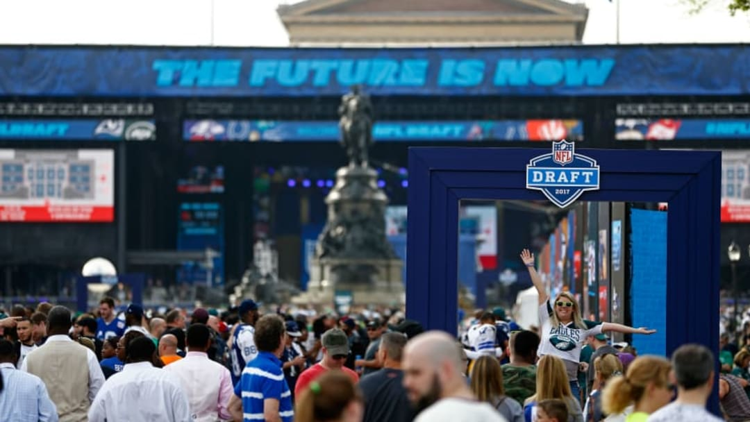 PHILADELPHIA, PA - APRIL 27: Fans attend the NFL Draft Experience prior to the first round of the 2017 NFL Draft at the Philadelphia Museum of Art on April 27, 2017 in Philadelphia, Pennsylvania. (Photo by Jeff Zelevansky/Getty Images)