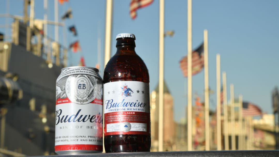 NEW YORK, NY - MAY 25: Budweiser Freedom Reserve Red Lager proudly sponsors Fleet Week at the Intrepid on May 25, 2018 in New York City. (Photo by Mike Coppola/Getty Images for Budweiser)