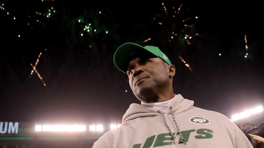 EAST RUTHERFORD, NJ - NOVEMBER 02: Head coach Todd Bowles of the New York Jets leaves the field following the Jets' 34-21 win against the Buffalo Bills during their game at MetLife Stadium on November 2, 2017 in East Rutherford, New Jersey. (Photo by Abbie Parr/Getty Images)