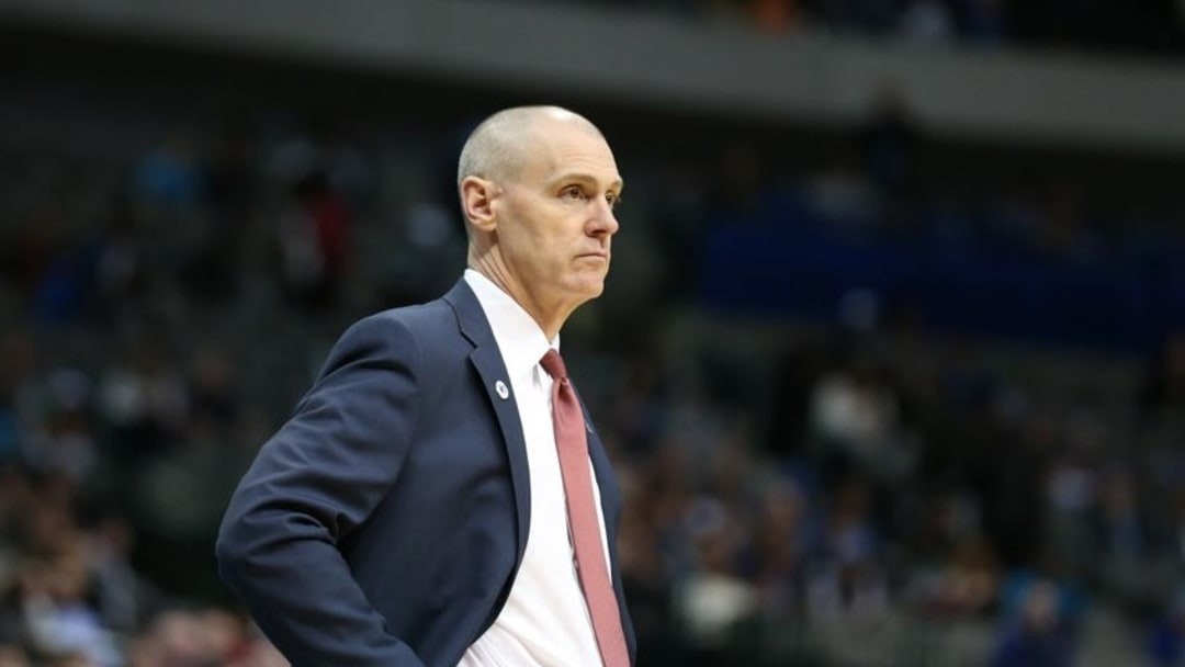 Feb 24, 2016; Dallas, TX, USA; Dallas Mavericks head coach Rick Carlisle on the sidelines during the game against the Oklahoma City Thunder at American Airlines Center. Mandatory Credit: Matthew Emmons-USA TODAY Sports