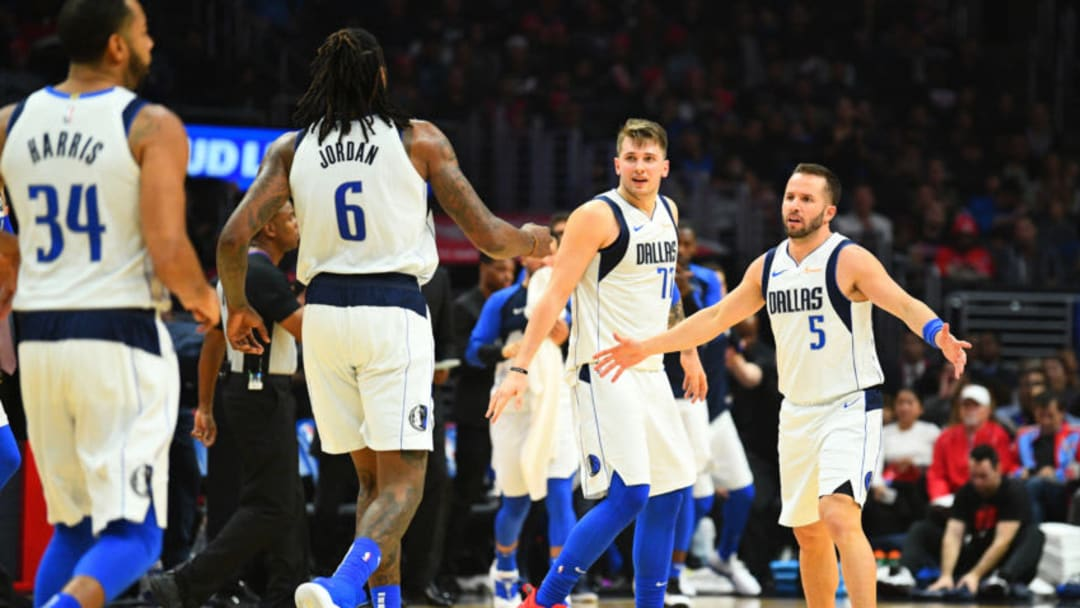 Dallas Mavericks J.J. Barea Luka Doncic (Photo by Brian Rothmuller/Icon Sportswire via Getty Images)