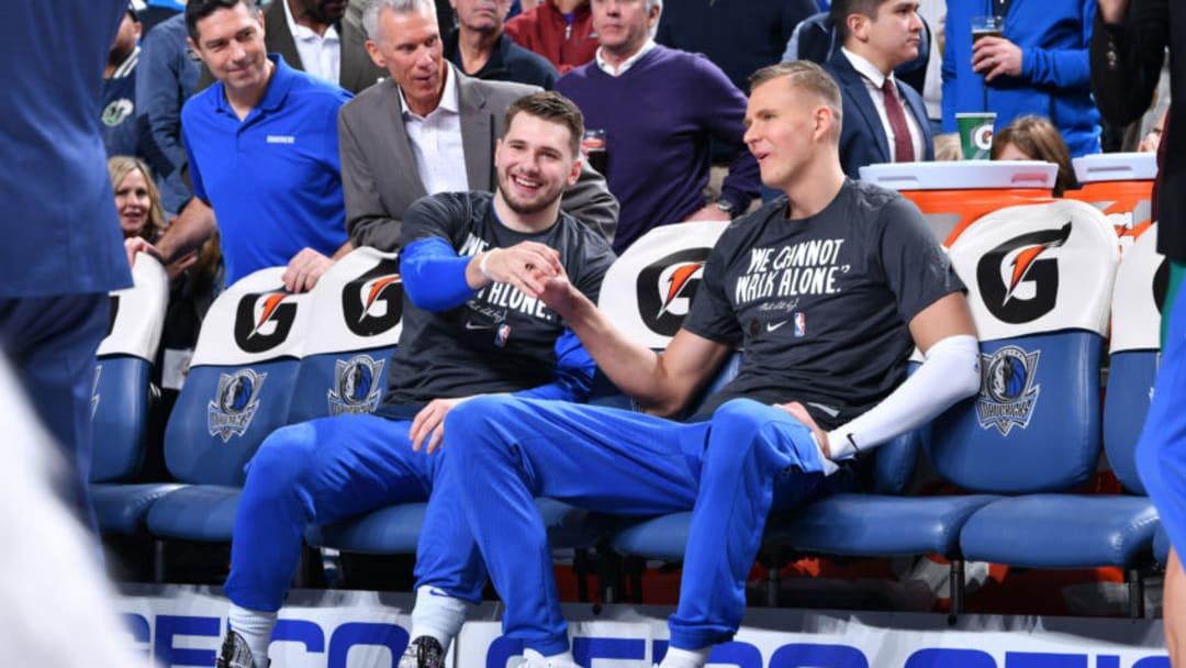 Dallas Mavericks Luka Doncic Kristaps Porzingis Copyright 2020 NBAE (Photo by Glenn James/NBAE via Getty Images)