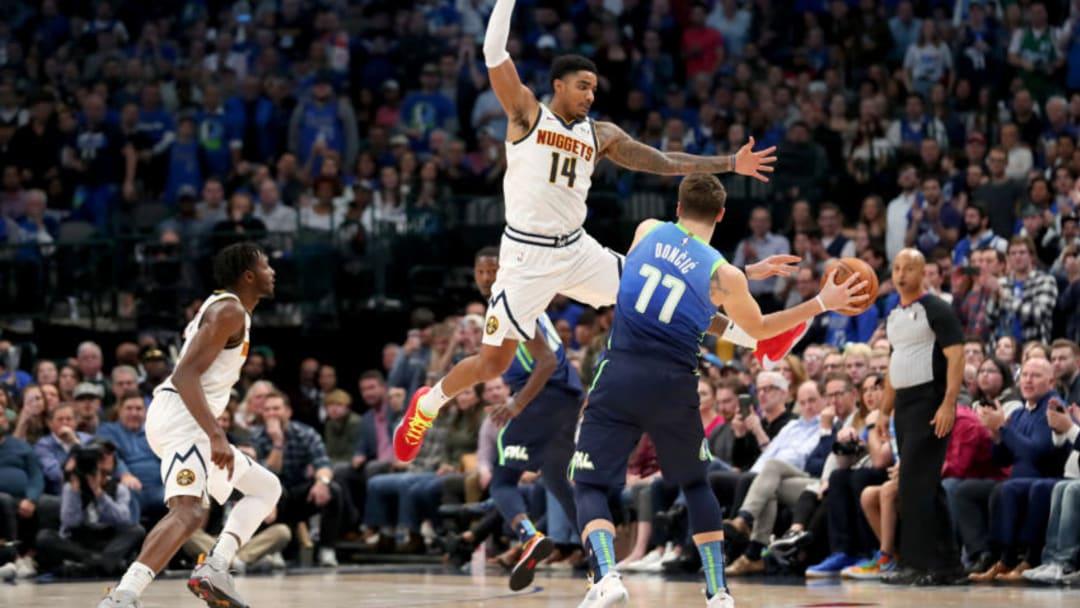 Dallas Mavericks Luka Doncic Gary Harris (Photo by Tom Pennington/Getty Images)