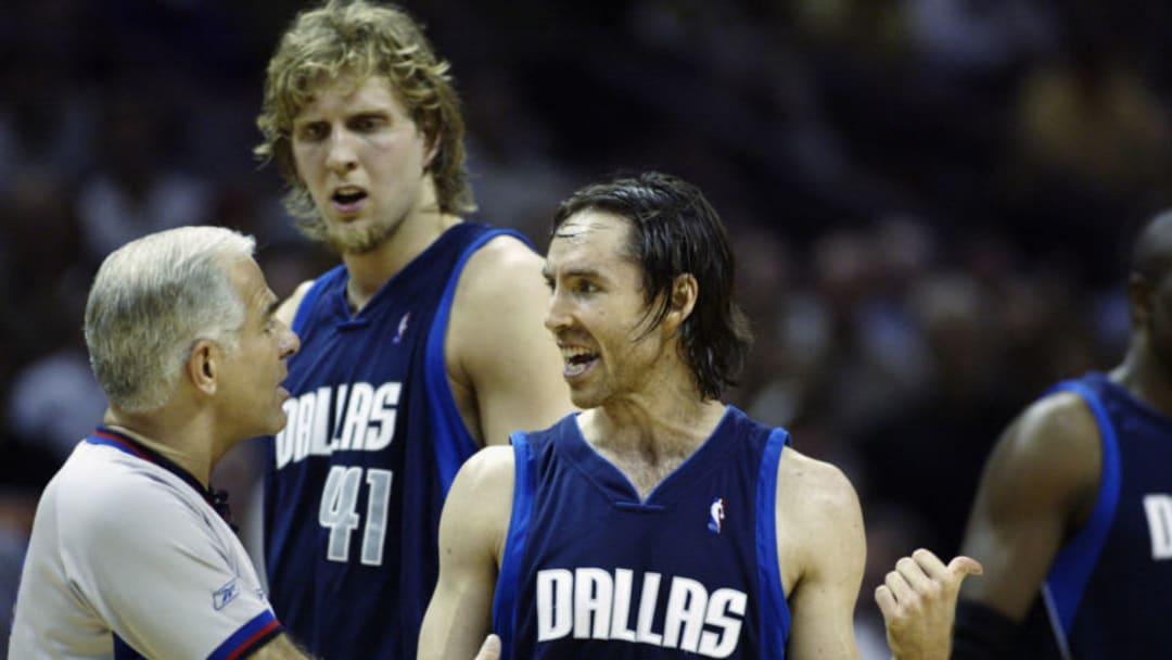 Dallas Mavericks Dirk Nowitzki Steve Nash (Photo by Jed Jacobsohn/Getty Images)
