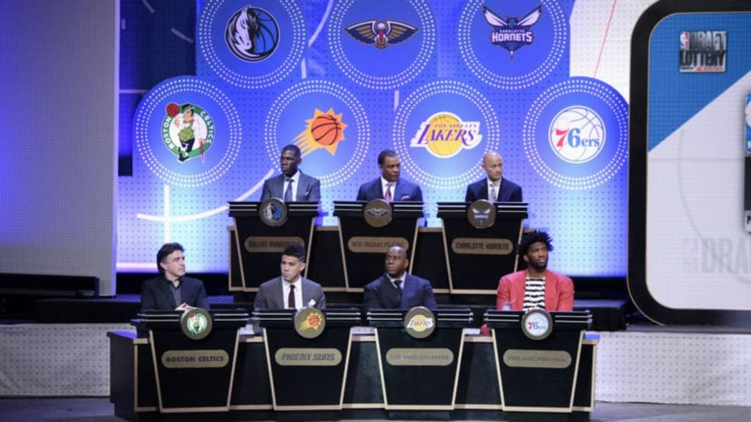 NEW YORK, NEW YORK - MAY 16: A general view of the 2017 NBA Draft Lottery at the New York Hilton in New York, New York. NOTE TO USER: User expressly acknowledges and agrees that, by downloading and or using this Photograph, user is consenting to the terms and conditions of the Getty Images License Agreement. Mandatory Copyright Notice: Copyright 2017 NBAE (Photo by David Dow/NBAE via Getty Images)