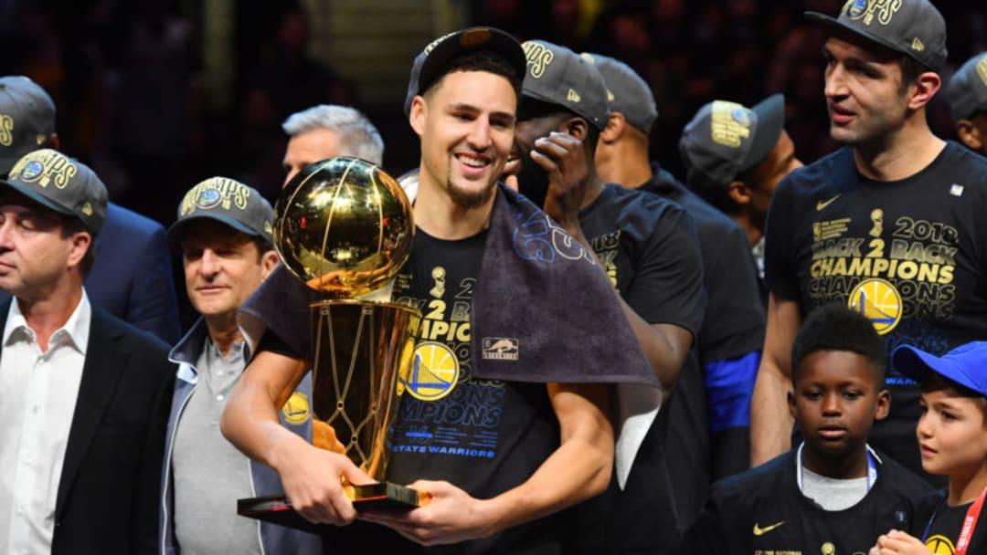 Dallas Mavericks Klay Thompson Copyright 2018 NBAE (Photo by Jesse D. Garrabrant/NBAE via Getty Images)